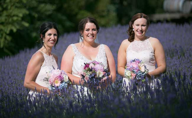 The lavender garden is a great feature for your photos (Photo by O'Neill Photographics)